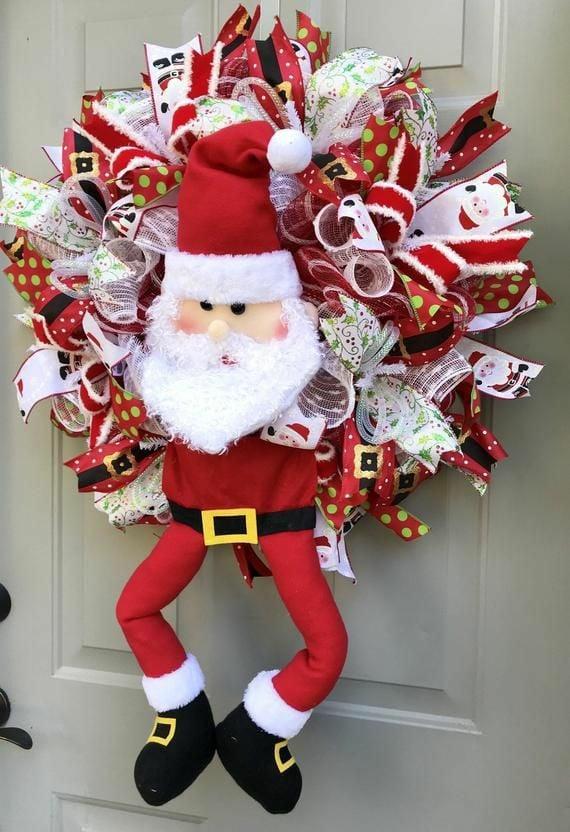 Adornos De Santa Claus Para Colgar En La Puerta
