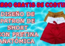 DISEÑO DE PATRON DE SHORTS CON PRETINA PASO A PASO